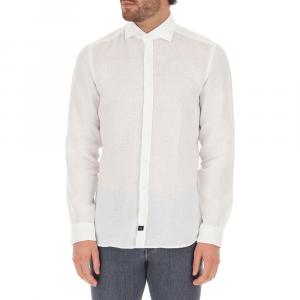 Camicia lino da uomo FAY NCMA142259THTKB001 -21