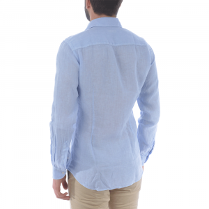 Camicia lino da uomo FAY NCMA142259THTKU003 -21