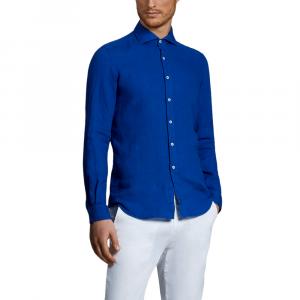 Camicia lino da uomo FAY NCMA142259THTKU615 -21