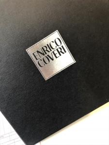Set completo porta biglietti da visita e penna roller Linea Enrico Coveri