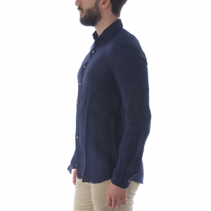 Camicia lino da uomo FAY NCMA142259THTKU807 -21