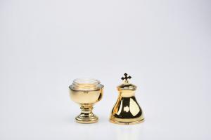 Vasetto per oli santi con interno in vetro