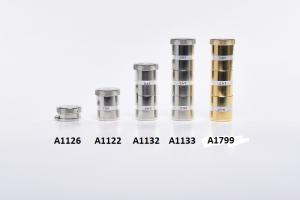 Vasetto doppio a colonna in metallo per oli santi