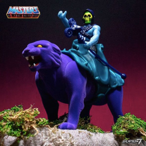 Masters of the Universe ReAction: 2 pack SKELETOR ON PANTHOR by Super 7