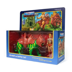 Masters of the Universe ReAction: 2 pack HE-MAN ON BATTLECAT by Super 7