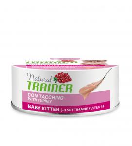 Trainer - Natural - Baby Kitten - Tacchino - 80g x 6 lattine