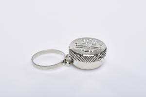 Vasetto anello per oli santi
