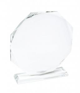 Trofeo ottagonale in vetro