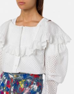 Camicia con ricami sangallo philosophy di lorenzo serafini