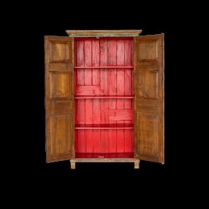 Credenza - Armadio con 2 ante portale indiano in legno di teak