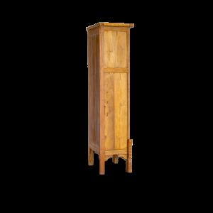 Colonnina con ante e cassetti in legno di teak indonesiano con intagli floreali