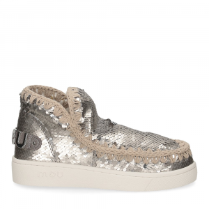 Mou summer eskimo sneaker all sequins big metallic logo gunmetal-2