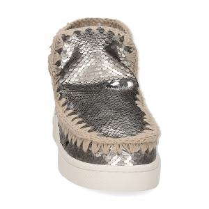 Mou summer eskimo sneaker all sequins big metallic logo gunmetal-3