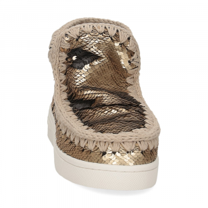 Mou summer eskimo sneaker all sequins big metallic logo gold-3
