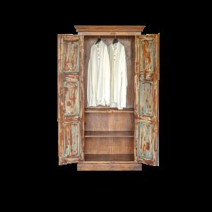 Credenza / Armadio in legno di palissandro indiano con ante recuperate