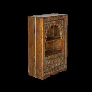 Libreria indiana in legno massello di teak recuperato