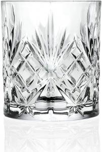 Set 6 bicchieri acqua in vetro, CL 31 vintage, Melodia cm.9,4h diam.8,2