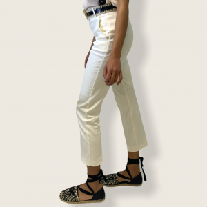 SHOPPING ON LINE PINKO PANTALONI CIGARETTE-FIT IN COTONE TECNICO BELLO 105 NEW COLLECTION WOMEN'S SPRING SUMMER 2021