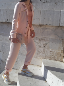 Pantalone Raphaela 2 fluido rosa Pinko