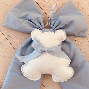 Fiocco nascita orsetto azzurro