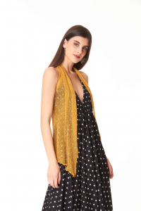 Ponchetto Senape | Accessoire de mode pour femmes