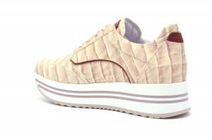 Sneaker pelle stampa cocco