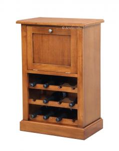 Flaschenregal Klapptür aus Holz