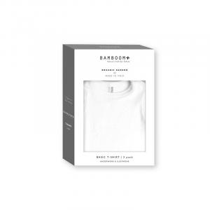 Maglietta T-shirt Basic maniche corte 2 pezzi Bianco - Taglia 36 mesi