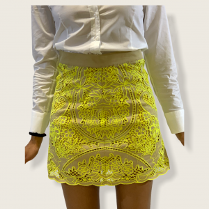 SHOPPING ON LINE TWINSET MILANO GONNA IN POPELINE CON RICAMO NEW COLLECTION WOMEN'S SPRING SUMMER 2021