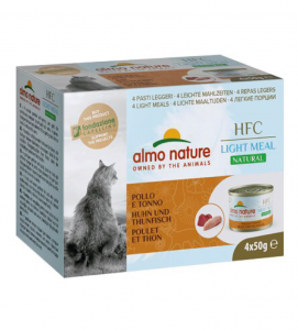 Almo Nature - HFC Cat - Megapack - Natural Light Meal - (4x50g) x 3 confezioni