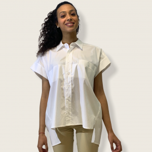SHOPPING ON LINE TWINSET MILANO CAMICIA OVER IN POPELINE  NEW COLLECTION WOMEN'S SPRING SUMMER 2021