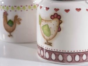 Barattolo ceramica con tappo ermetico e cucchiaino