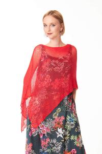 Ponchetto Ibiscus, Accessori moda casual chic