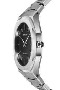 D1 Milano Ultra Thin Bracelet 40 mm Silver 3D Stripe