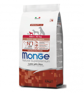 Monge - Natural Superpremium - Mini Puppy&Junior - Agnello - 2.5 kg