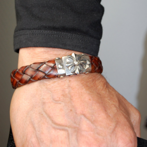 Elf Craft Silver Leather Bracelet