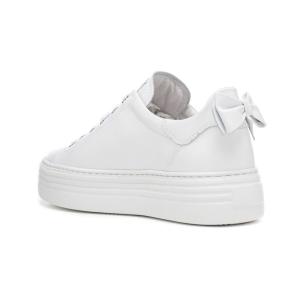 Sneaker pelle con fiocco