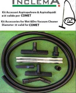 KIT tubo flessibile e Accessori Aspirapolvere e aspiraliquidi CV 30 XE ø35 (tubo diametro 32) valido per COMET-2-2