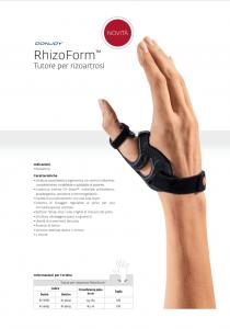 Rhizoform tutore per rizoartrosi
