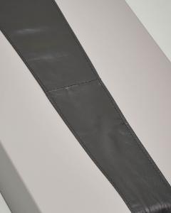 Cintura a fusciacca in ecopelle nera