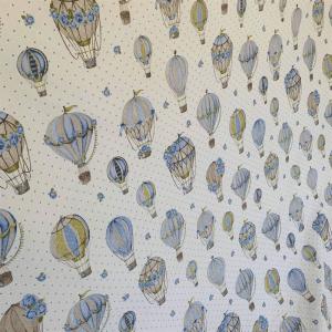Telo Granfoulard Mongolfiere azzurre