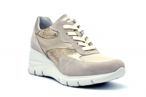 Sneaker camoscio e tessuto