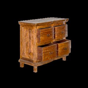 Cassettiera 4 cassetti in legno di teak recycle balinese