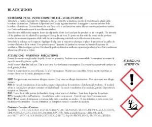 Profumo auto ricaricabile black wood