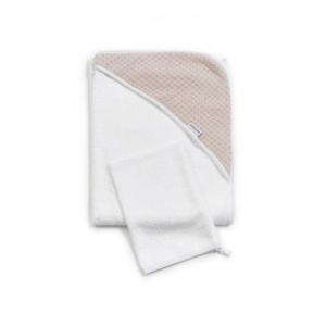 Accappatoio per neonato Bagno Duo Soft Stone Soft Pink