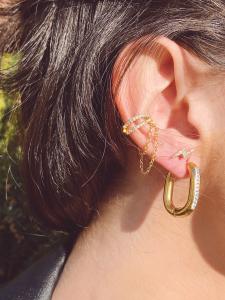 EAR CUFF INTRECCIO CON CATENA
