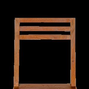 Sedia in legno di palissandro indiano finitura opaca