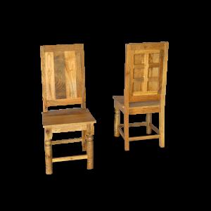 Sedia in legno di mango indiano