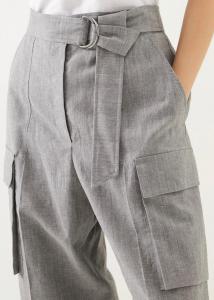 Pantalone modello cargo in lana e lino by Brunello Cucinelli