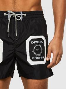 Diesel Boxer da bagno di lunghezza media con applicazioniBMBX-WAVE 2.017